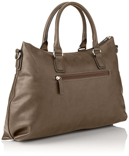 GERRY WEBER Be Different Shopper - Bolsa de la compra de piel sintética mujer beige - Beige (taupe 104)