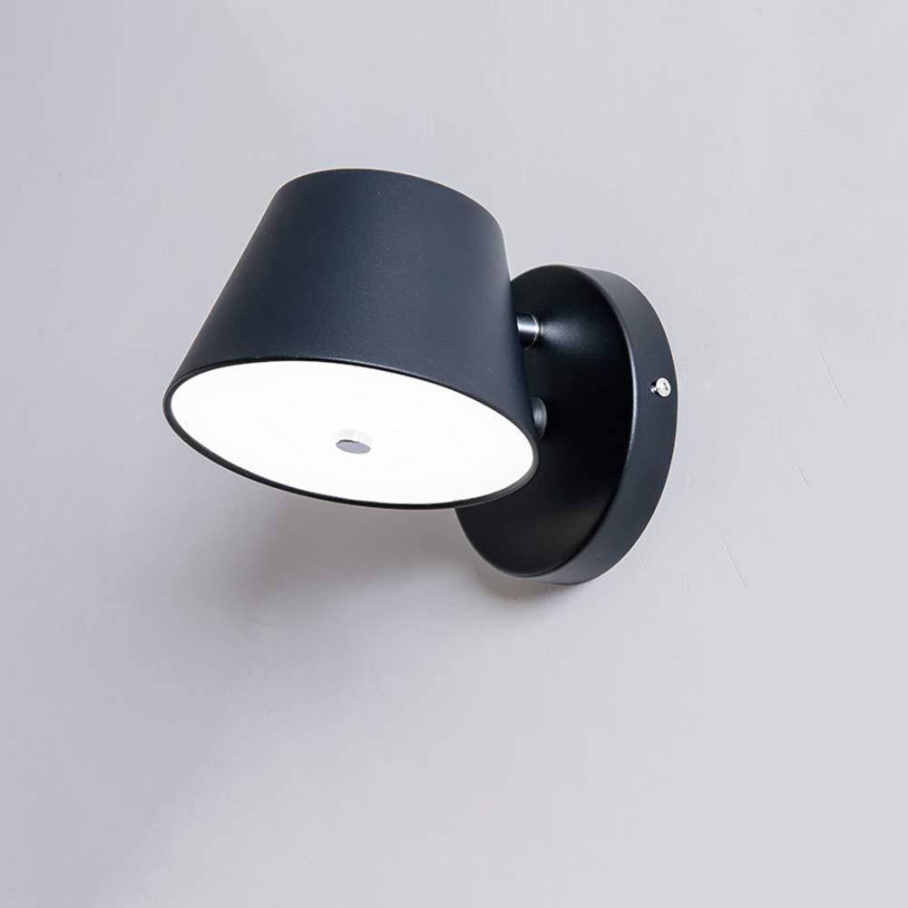 Wandleuchte,LED-Wandleuchte, nordische Moderne minimalistische Nachttischlampe, drehbare kreative Innen Macaron Wohnzimmer Schlafzimmer Gang Wandleuchte (Farbe   Weiß)