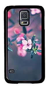 Samsung Galaxy S5 free shipping cover Pink Flower Cool PC Black Custom Samsung Galaxy S5 Case Cover