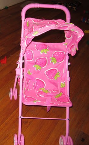Kids Doll Stroller With Basket, Baby & Kids Zone