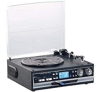 Q-Sonic MHX-400 - Tocadiscos (4 en 1, con Bluetooth y ...