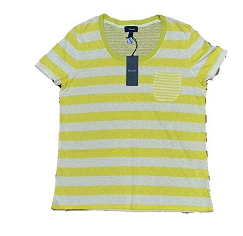 (Faconnable Women's Striped Jaxo Tee, yellow / White, M )