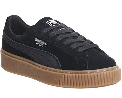 Puma Donna In Pelle Scamosciata Animale, Nero / Marrone Nero