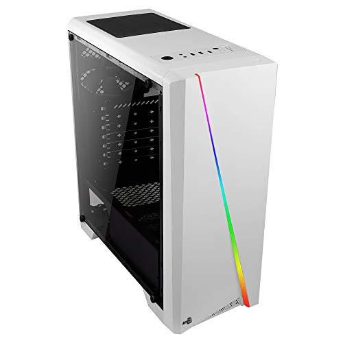 Aerocool CYLON, Case PC ATX, RGB 13 Modalità, Ventola Posteriore 12 cm, Bianco