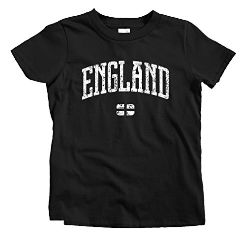 fan products of Smash Vintage Kids England T-Shirt - Black, Youth X-Large