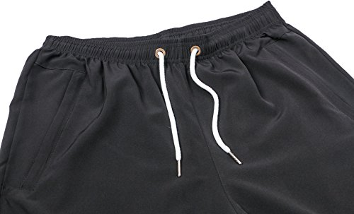 2bd445fd4f Mens Athletic Gym Shorts Elastic Waist - Quick Dry Stretchable for Running,  Training, Workout