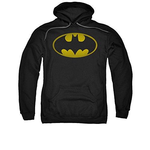 Batman DC Comics Washed Bat Logo Adult Pull-Over (Washed Logo Mens Hoodie)
