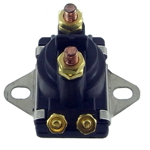 (Trim Solenoid Relay Switch Replacement For Mercury Mercruiser Marine 12 Volt 4 Terminal 35-150HP 89-846070 89-94318 89-96158T)