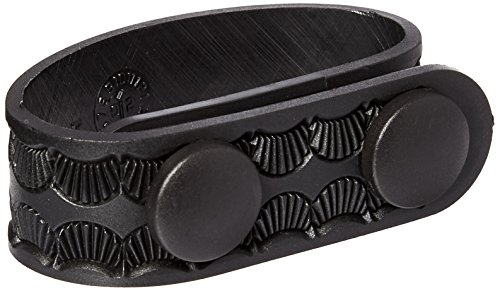 Uncle Mike's Mirage Basketweave Duty Keepers Molded Snap Close Belt (2 1/4-Inch, Black, Set of 4) ()