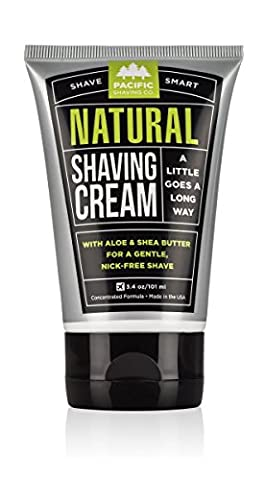 Pacific Shaving Company Natural Shaving Cream, Best Shave Cream for Men and Women - Safe Ingredients, Travel/TSA Friendly 3.4 - Best Shave