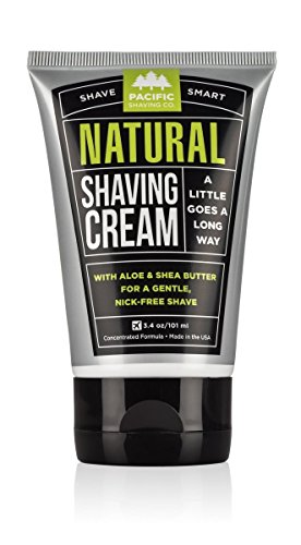 Shave Brushless Cream (Pacific Shaving Company Natural Shaving Cream, Best Shave Cream for Men and Women - Safe and Natural Ingredients, Travel/TSA Friendly)