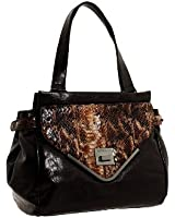 BCBGeneration  Charlie Satchel,Chocolate,One Size