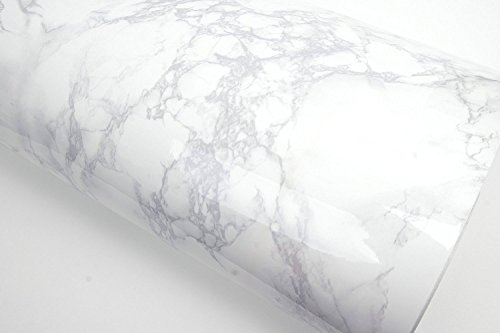 ROSEROSA Peel and Stick PVC Instant Marble Decorative Self-Adhesive Film Countertop Backsplash Napoleon Marble (PGS408 : 4.00ft X 6.56ft) by ROSEROSA (Image #1)