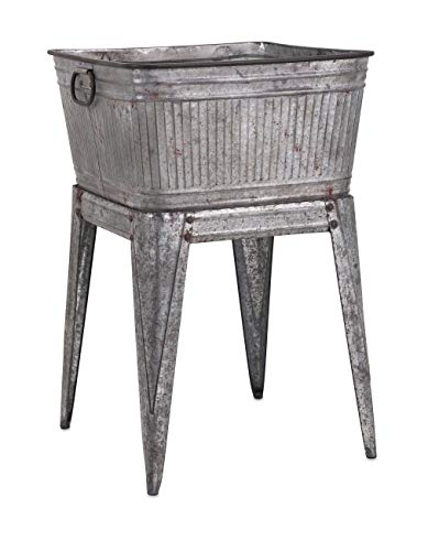IMAX 65345 Perryman Galvanized Tub on Stand. Lightweight