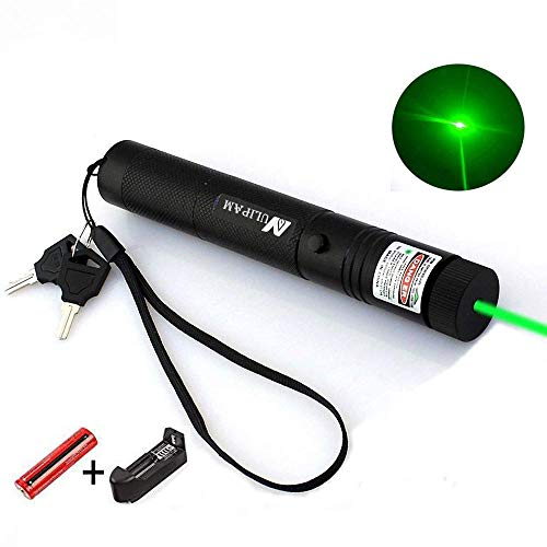 NULIPAM Tactical Green Hunting Scope Laser Pen, Demo Remote Pen Pointer Projector, Outdoor Flashlight LED Interactive Baton, Funny Laser Toy