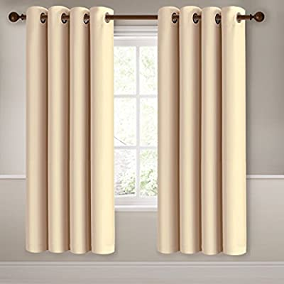 MEROUS Window 2 Panels Treatment Thermal Insulated Solid Grommet Blackout Curtains / Drapes for Bedroom (Set of 2 Panels)