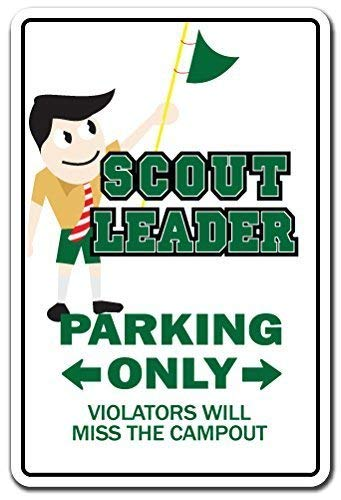 Metal Sign 12x16 inches Decorative Signs with Sayings Scout Leader Gift Boy Girl Brownie Cub Eagle Troop Pack Meeting Sign Metal Aluminum Wall Sign Safety Sign