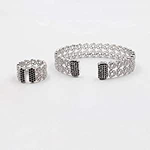 Bracelets & Ring Zircon Alloy