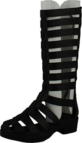 Sandals Womens Pu Platform Black Patent Bootie Black Strappy 2 Out Kendal Cut Forever 68pqSwfxc