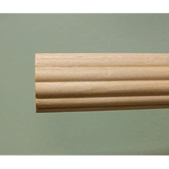 Amazon Com 1 3 8 Inch Wood Fluted Drapery Rod Unfinished