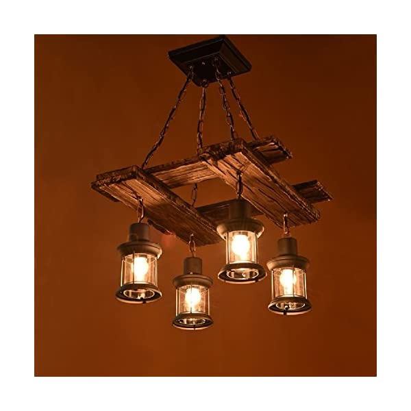 HQLCX Chandelier American retro nostalgic LOFT clothing stores personalized solid wood boat wooden Chandelier