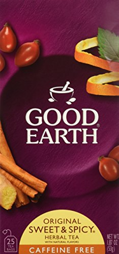 Good Earth Caffeine Free Original Herbal Tea, Sweet & Spicy 25 Bags 3 Pack, Total 3-1.87oz(53g)