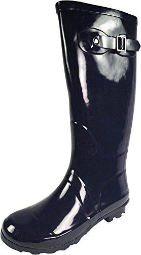 - NORTY - Womens Hurricane Wellie Gloss Hi-Calf Rain Boot, True Navy 39698-8B(M) US