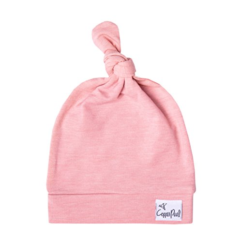 (Baby Beanie Hat Top Knot Stretchy Soft