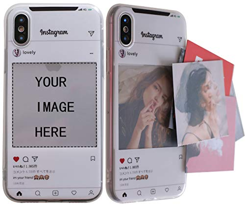 ARASO Picture iPhone X Case, Personalized Custom Picture iPhone X Case, Create Your Own Photo Instagram Case-Shock Absorbing TPU Slim Case for iPhone Xs