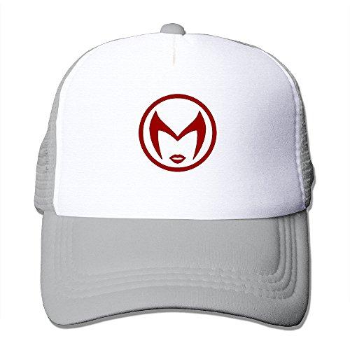 Cool Scarlet Witch Logo Trucker Cap Baseball Hat (5 Colors) Ash ()