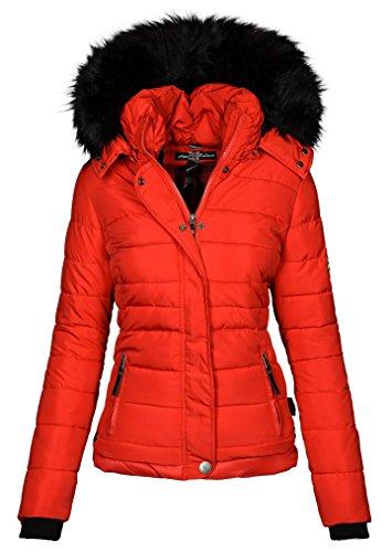 Navahoo Chaqueta de Invierno para Mujer, con forro B301 Rojo