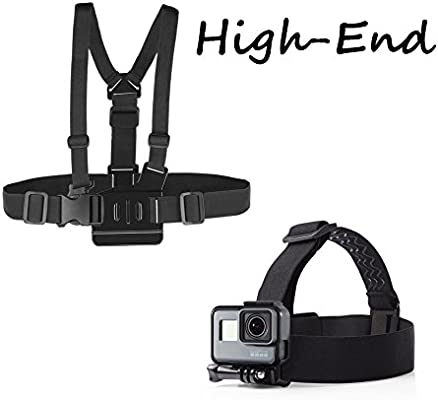 O RLY Head Strap + Chest Strap Harness Mount para GoPro Hero 4 5 6 ...