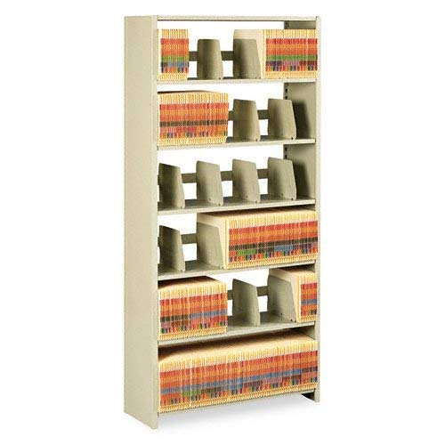 Tennsco 1276PCSD 36 by 12 by 76-Inch Snap-Together Open Shelving Steel 6-Shelf Closed Starter Set, Sand (Renewed)