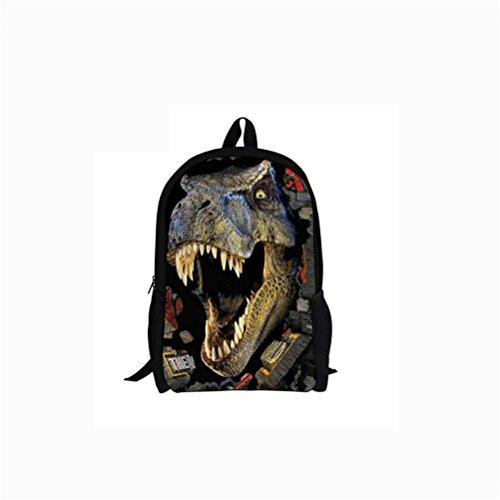 5542c Student 3D Backpack Bag Dinosaur High Backpacks Capacity Printing School BqgzRq