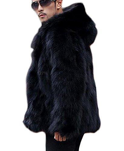 Jacket Long Men's Jacket Faux Sleeve today 1 Parka UK Luxury Fur Coat 4TwxUxaBqW