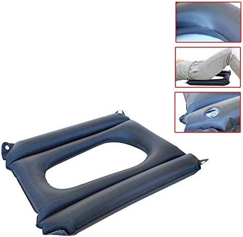 YxnGu Air Aufblasbares Sitzkissen für Rollstuhl und Toilettenstuhl - Anti-Dekubitus-Patienten-Luftkissen mit Loch...