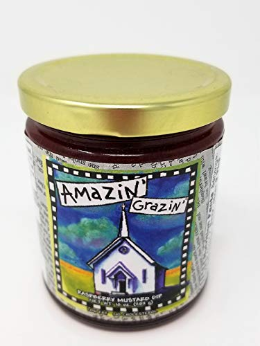 Gullah Gourmet - Raspberry Mustard Dip - Amazin' Grazin' - 10 OZ Jar