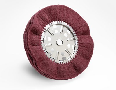 3M (HS-SB) Satin Pleated Buff Wheel, 19 in x 1 in x 2-1/4 in 2A FIN, 10 per case [You are purchasing the Min order quantity which is 10 WHEELS] by 3M