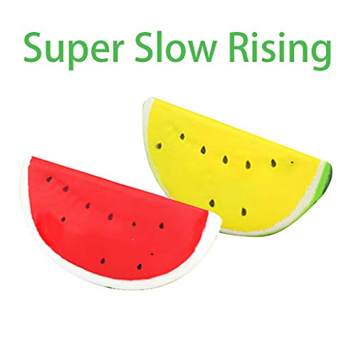 Guo Nuoen Squishies Cartoon Watermelon Scented Slow Rising Stress Reliever Squeeze Toys -
