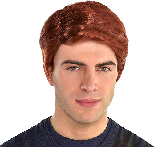 amscan Red Hair Wig for Men, One