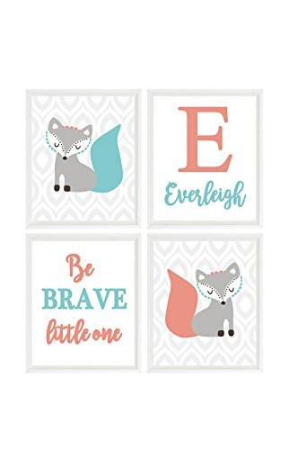 amazon com fox nursery wall art baby girl nursery be brave little