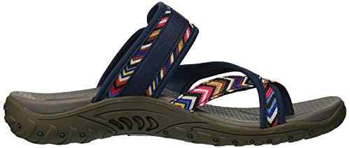 Flip Multi Sandals Slop trailway Women's Reggae Navy Skechers flop TnAfHqa