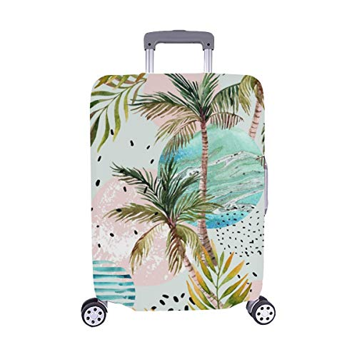 Abstract Summer Geometric Spandex Trolley Case Travel Luggage Protector Suitcase Cover 28.5 X 20.5 Inch (Tropic Lycra Top)