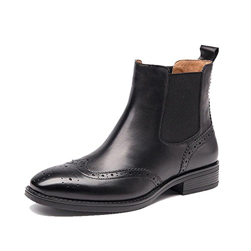 tacco faux grosso pelle caviglia stivali caldo velvet plus piatto comfort casuale imbracatura foderato black donne addensare TIqtgI