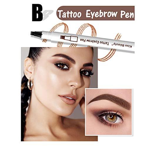 Kiss Waterproof Microblading Pen Long Lasting 3 Color Fork Tip Eyebrow Tattoo Pen Crayon Sourcil Eyebrow Pencil KB007&026 02