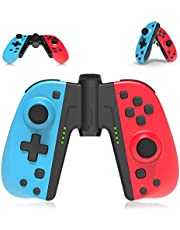 PowerLead Wireless Controller for Nintendo Switch, Controller Joystick for Switch/Switch Lite, 2 Pack Replacement for Switch L/R Remote with Turbo Macro and 6-axis Gyroscope (Bracket Included)