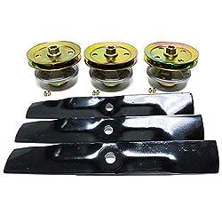 """48"""" Deck Spindle Blade Kit John Deere LX186 L"""