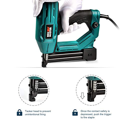 92dd8f1c3de59 Electric Brad Nailer, NEU MASTER NTC0040 Electric Nail Gun/Staple Gun for  Small Project of Upholstery, Home Improvement and Woodworking, 1/4'' Narrow  ...