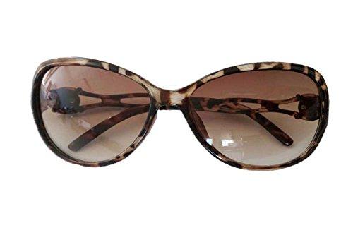 niceeshop(TM) Neu Modern Vintage Retrostil Aushöhlen Hollow Out Groß Sonnenbrille Für Damen Leopard Muster