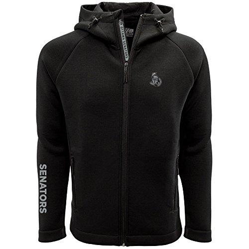 NHL Ottawa Senators Adult Men Titan Insignia Bold Full Zip Hooded Jacket, Large, ()